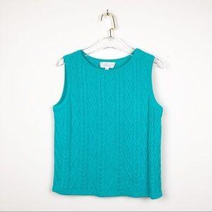 St. John Sport Essentials Wool Knit Sweater Vest